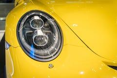 Shot of a modern car headlight Royalty Free Stock Photos