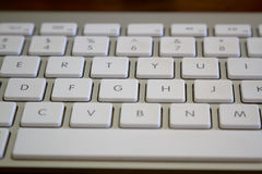 Close up shot of a modern laptop keyboard Stock Photo