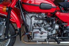 Close up shot motorcycle engine Stock Image