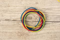 Colorful rubber bands Stock Photo