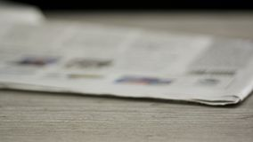 Newspapers piling up stock video footage
