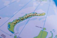 Novaya Zemlya on map Royalty Free Stock Image