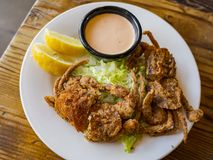 Close Up Shot Of Deep Fried Soft Shell Crab Royalty Free Stock Image