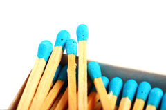 Close Up Shot Of Matches Isolated On White Royalty Free Stock Photos