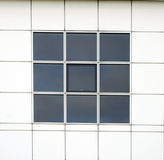 Close up shot of office windows Royalty Free Stock Photo
