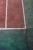 Close-up shot of an old tennis court Royalty Free Stock Images