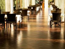 empty tables and chairs royalty free stock photography