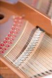 Close up shot of piano chords Stock Photography