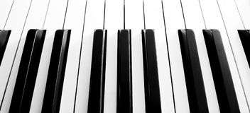 Close up shot of piano keyboard Royalty Free Stock Images