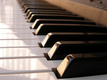 Close up shot of piano keys Royalty Free Stock Images