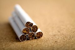 Pile of cigarettes Stock Photography