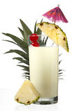 Close-up shot of pineapple milkshake. Royalty Free Stock Photos