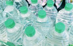 Bottles with water Royalty Free Stock Photos