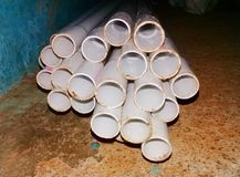 Close up shot of pvc pipes stock photos