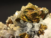 Close up shot of a pyrite Royalty Free Stock Photography