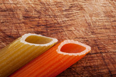 Close up shot of raw pasta. Stock Images