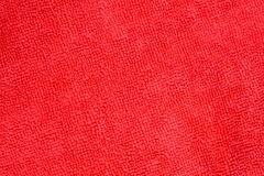Close up shot of red microfiber cloth texture for background Stock Photography
