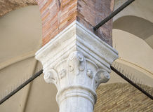 Close-up shot of a of Roman-style column. Stock Images