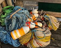 Pile of Colors on the Pier royalty free stock images