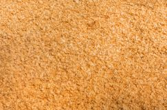Close up shot of sawdust texture. Royalty Free Stock Photography