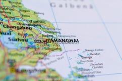 Shanghai on map Stock Photo