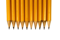 Close Up Shot Of Sharpened Pencils Royalty Free Stock Images