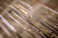 Many fishing rods royalty free stock image