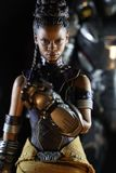 Close up shot of Shuri from Black Panther superheros figure in action
