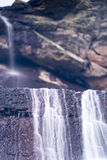 Close up shot of a small waterfall II Royalty Free Stock Images