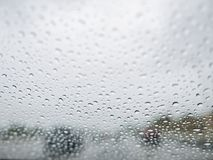 Close up shot of some water drops. With car, city as background at Los Angeles, California royalty free stock images