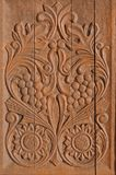 Wood Carving Motif Stock Images