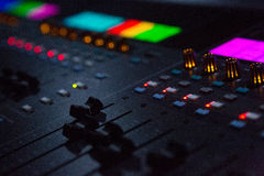 Close Up Shot Of Sound Mixing Desk In Venue Royalty Free Stock Image