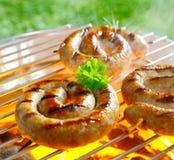 Spiral sausages Stock Image