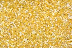 Close up shot of split oat grain (textured) Royalty Free Stock Photo