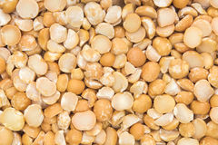 Close up shot of split peas (textured) Stock Images