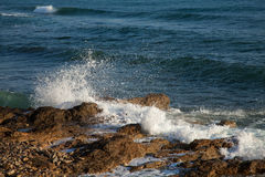 Close-up shot of stormy sea waves Royalty Free Stock Photos