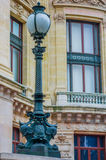 Close up shot of street lamps detail in Paris Royalty Free Stock Photography