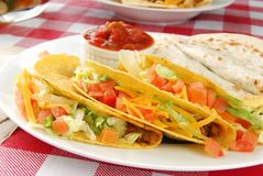 Close up shot of tacos Stock Photography