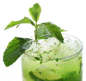 Close up shot of top of mojito. Royalty Free Stock Image