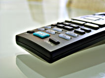 Close up shot of TV remote Stock Photo