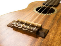 Close up  shot of Ukulele bridge Stock Images