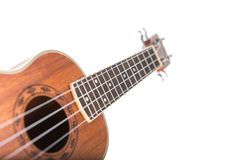 Close-up shot of ukulele guitar Royalty Free Stock Images