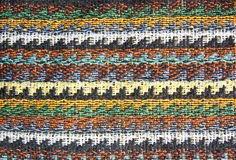 Close up shot View the details of a woven fabric. Royalty Free Stock Photography