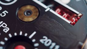 Close up shot of water meter. stock footage