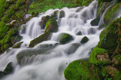 Close up shot of waterfall, Bulgaria Stock Photo