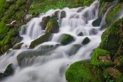 Close up shot of waterfall, Bulgaria. Close up shot of waterfall under Skaklia waterfall, Gara Bov, Bulgaria Stock Photo