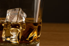 Close up shot of whiskey Royalty Free Stock Photos