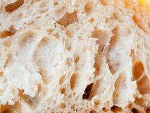 Close up shot of white sourdough bread slice Royalty Free Stock Images