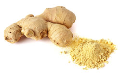 Close-up shot of whole ginger with spice Stock Images