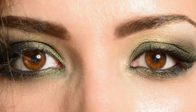 Close-up shot of woman eyes Royalty Free Stock Photo